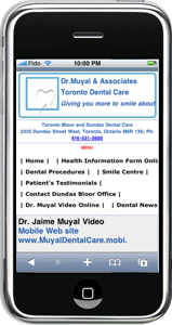 Dr. Muyal Dentistry Mobile Website on iPhone